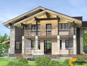 Проект дома с балконами фото