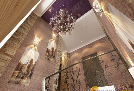 Дизайн интерьера коттеджа холл