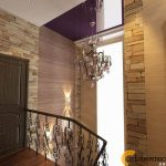 Дизайн интерьера холл с винтовой лестницей