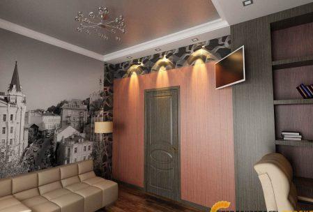 Дизайн интерьера коттеджа кабинет