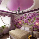 Интерьер Сиреневая спальня