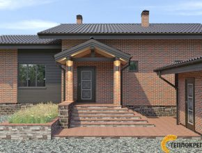 Проект дома из кирпича, комплекс дом с баней фото, проект дома из кирпича Москва