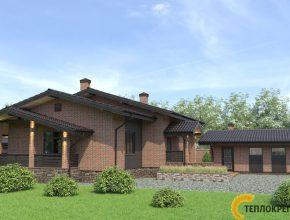 Проект дома из кирпича фото, комплекс дом с баней фото, проект дома из кирпича Москва