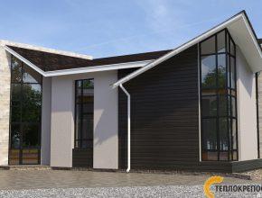 Проекты домов с большими окнами на 5 спален