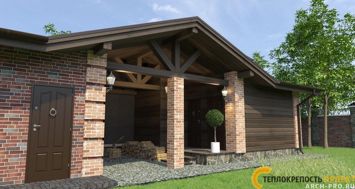 фото проекты гараж баня