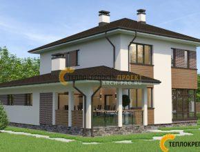 Проект дома с четырехскатной крышей