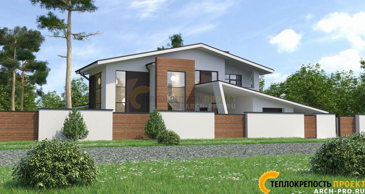 Стильный проект дома