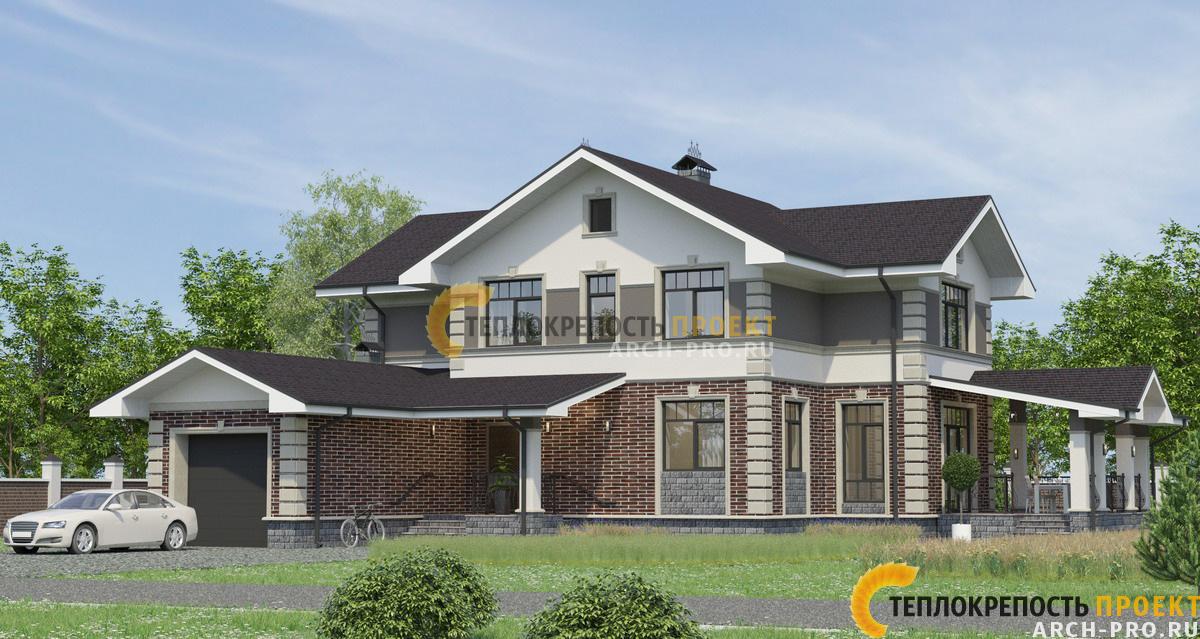Угловой проект дома