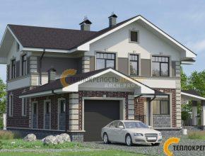Проект углового дома с гаражом