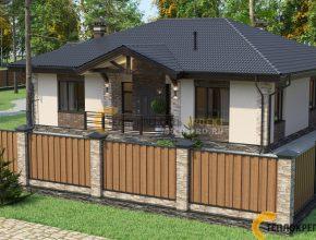 Небольшой дом с баней под одной крышей