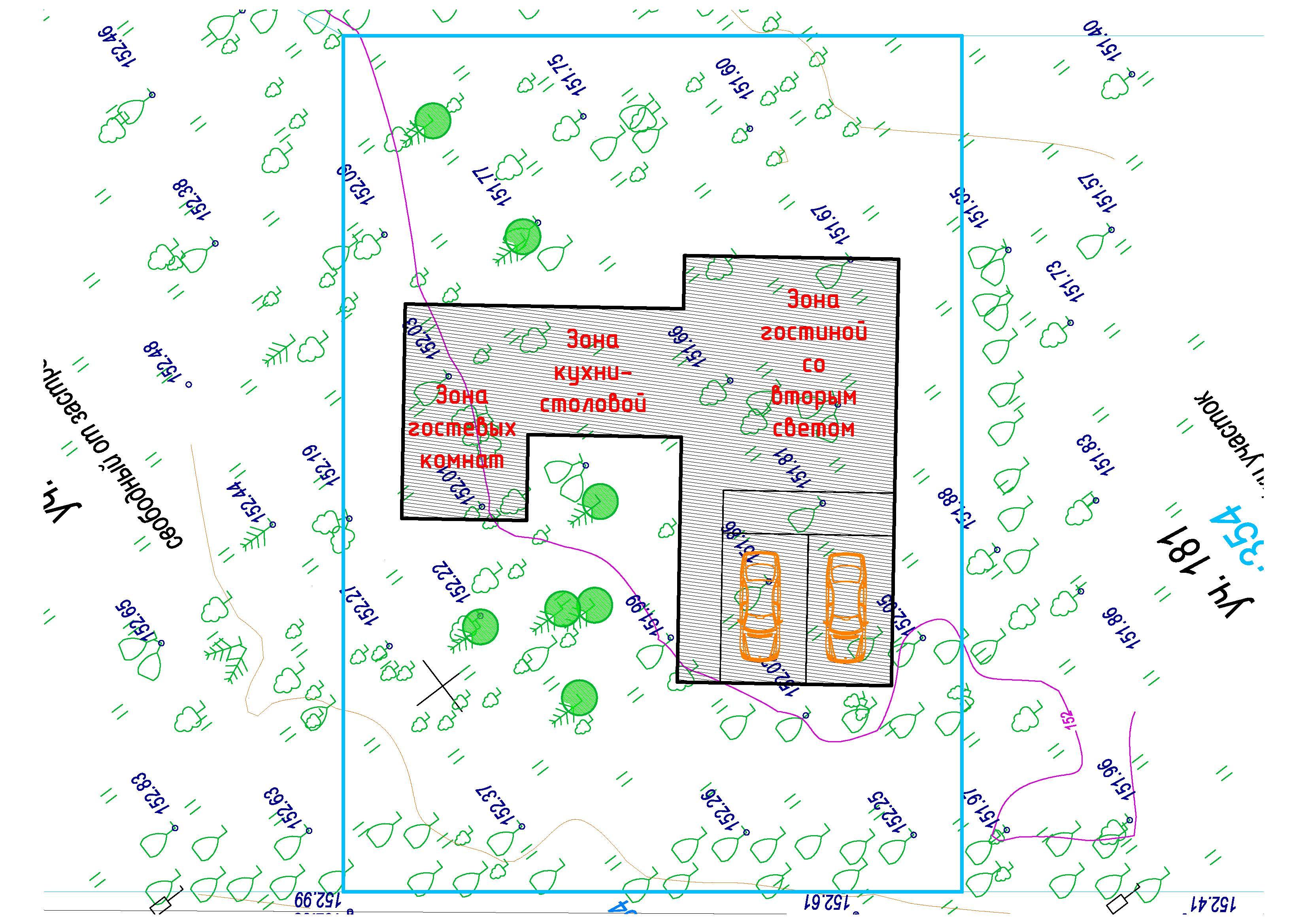 Концепция дома и расположение на участке