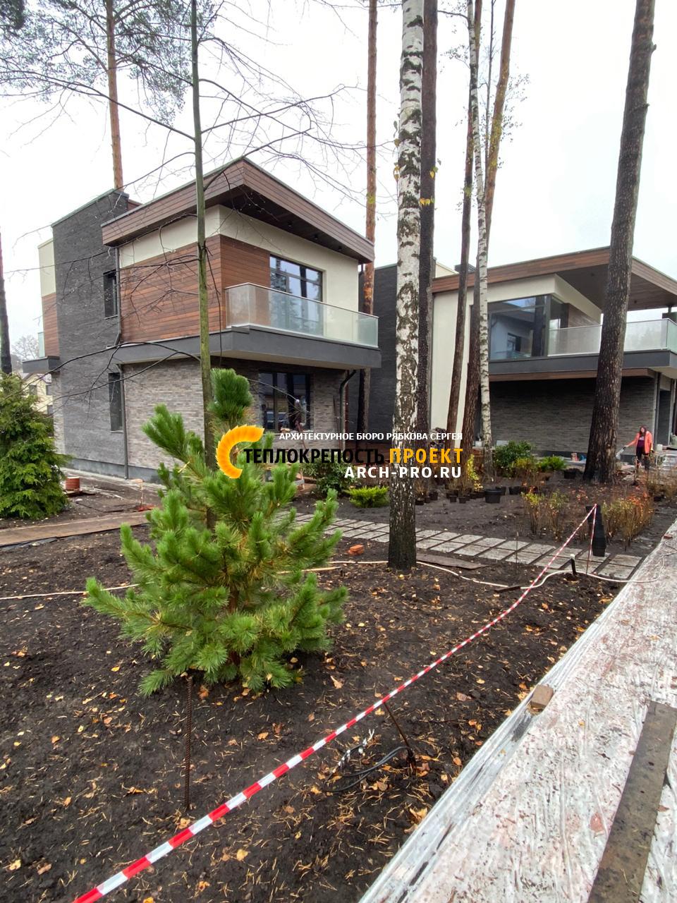 Сохранены практически все деревья вокруг дома