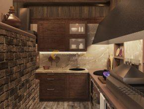Зимняя кухня. Мангал