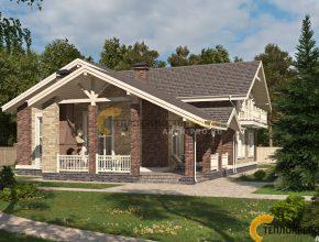 Проект дома с гаражом. Главный фасад.