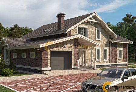 Проект дома с гаражом. Фасад.