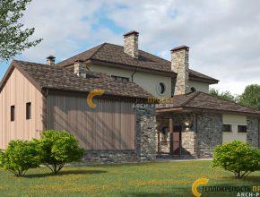 Дом с отдельностоящей баней
