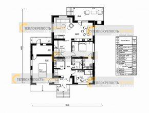 Планировка 1 этажа.