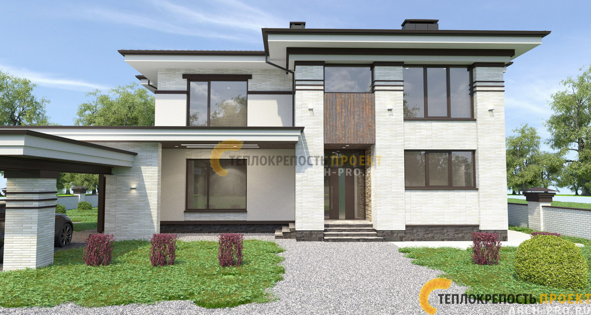 Фасад дома 400 кв м