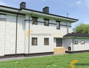 Белый фасад дома 400 кв м