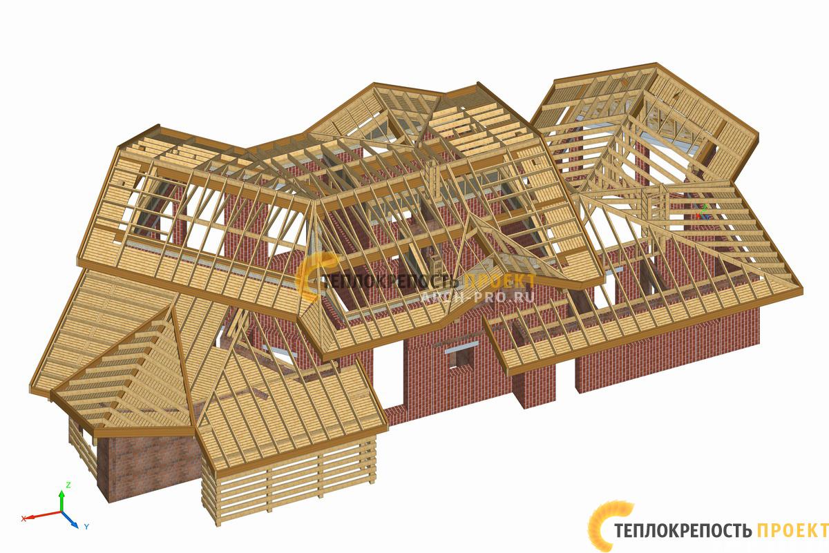 Проект кирпичного дома бани. Разработка конструктива.