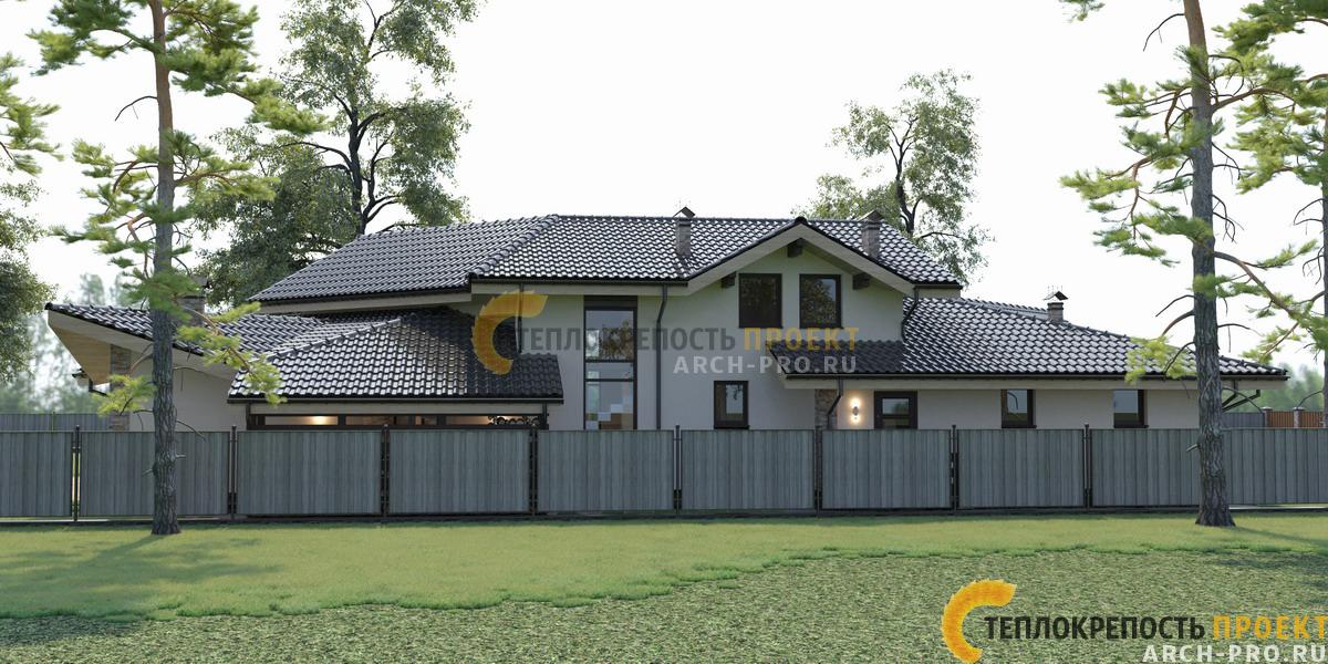 Проект кирпичного дома бани.