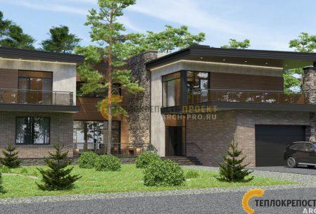 Проект дома хай тек с плоской крышей