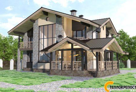 Проект дома с балконами