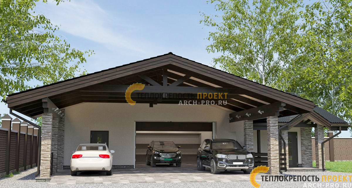 Навес гаража