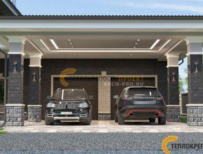 Площадка для автомобилей и гараж