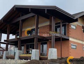 Реализация проекта дома на склоне