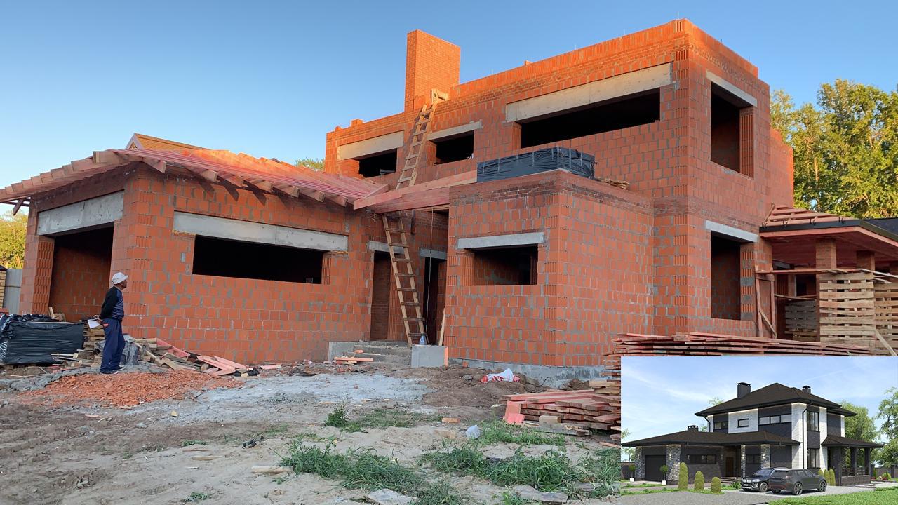 Проект дома с горизонтальными окнами