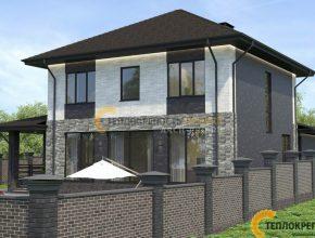 Проект дома с горизонтальными вытянутыми окнами