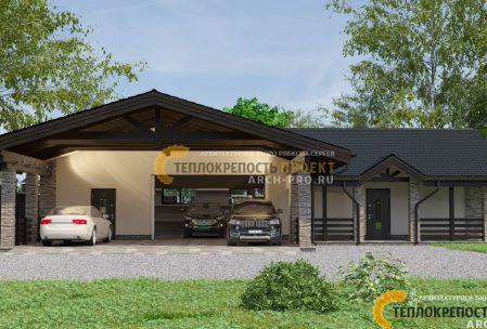 Проект большого гаража с подвалом