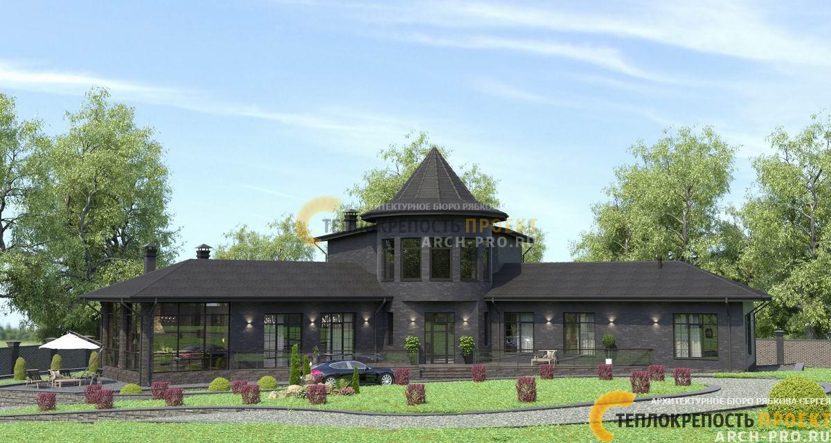 Дом с башней. Оригинальная восточная стилистика.