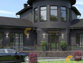 Кабинет на 2 этаже - Проект дома с башней в Чехове
